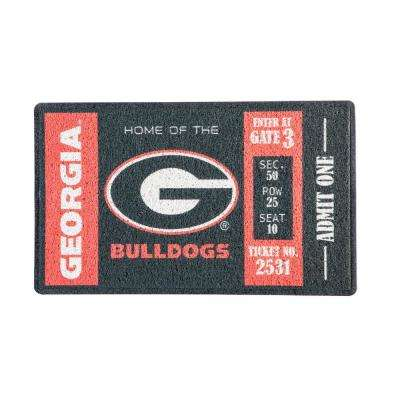 University of Georgia 30 in. x 18 in. Vinyl Indoor/Outdoor Turf Floor Mat