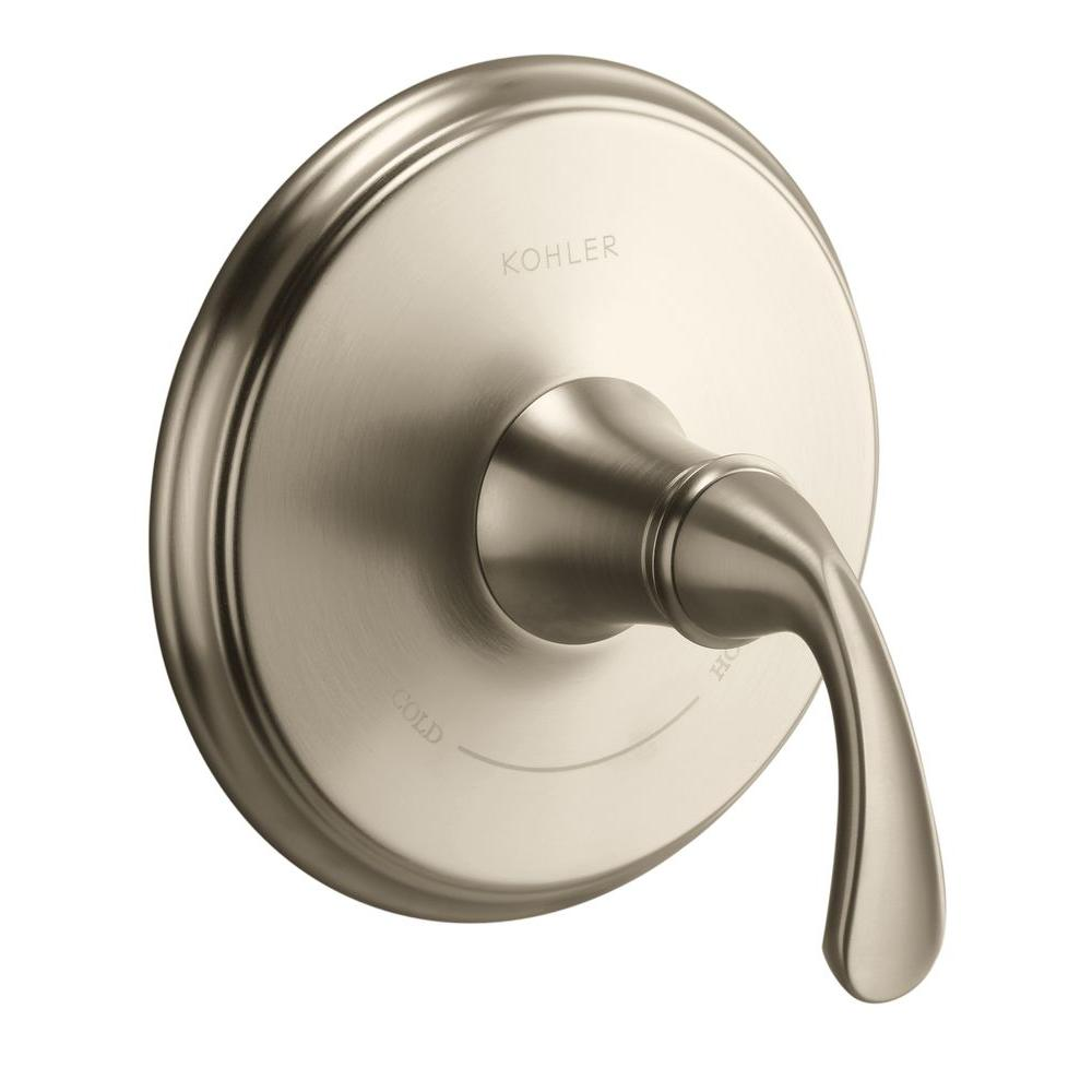 Forte 1-Handle Thermostatic Valve Trim Kit in Vibrant Brushed Nickel (Valve