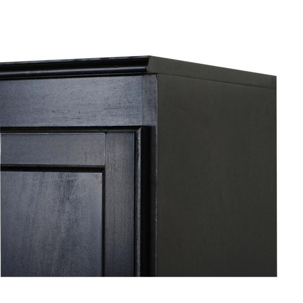 Concepts In Wood Wood Kitchen Pantry Cabinet 36 In With 2 Shelves Espresso Finish Kt613c 3036 E The Home Depot