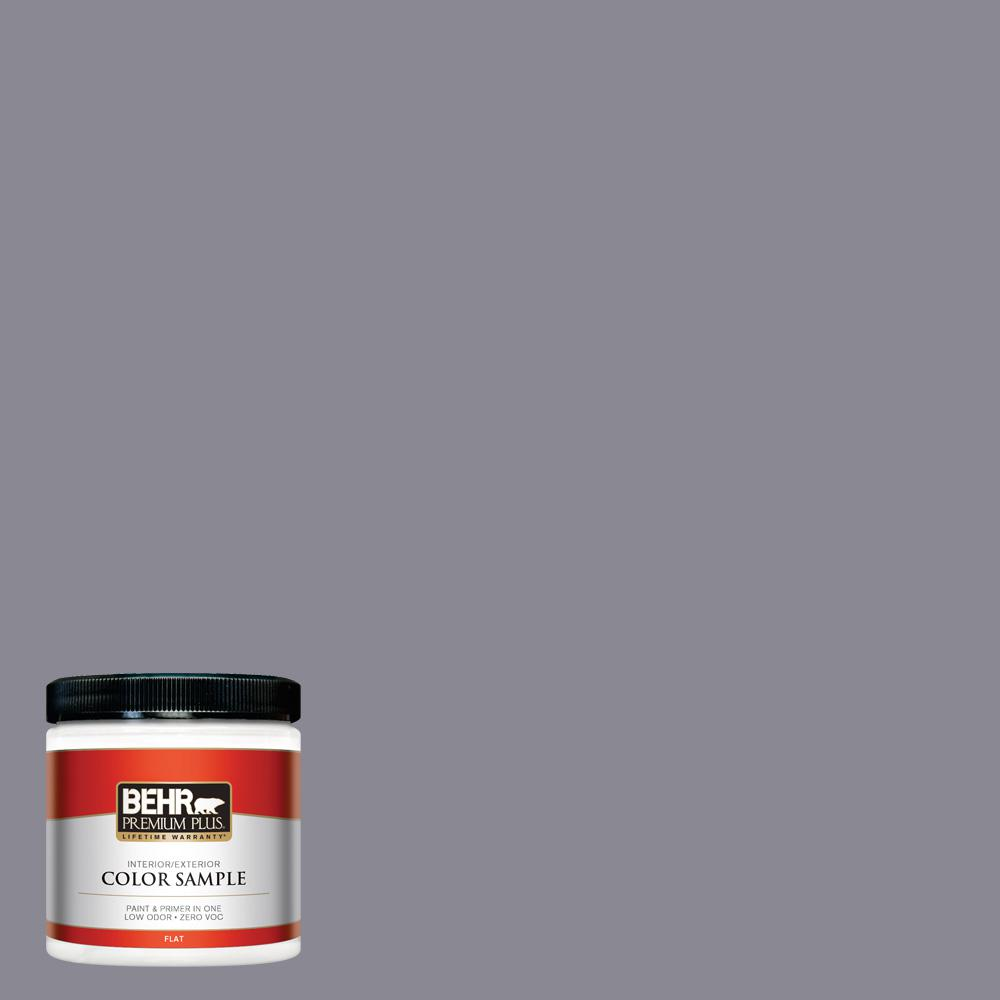8 oz. #PPU16-15 Gray Heather Flat Interior/Exterior Paint Sample