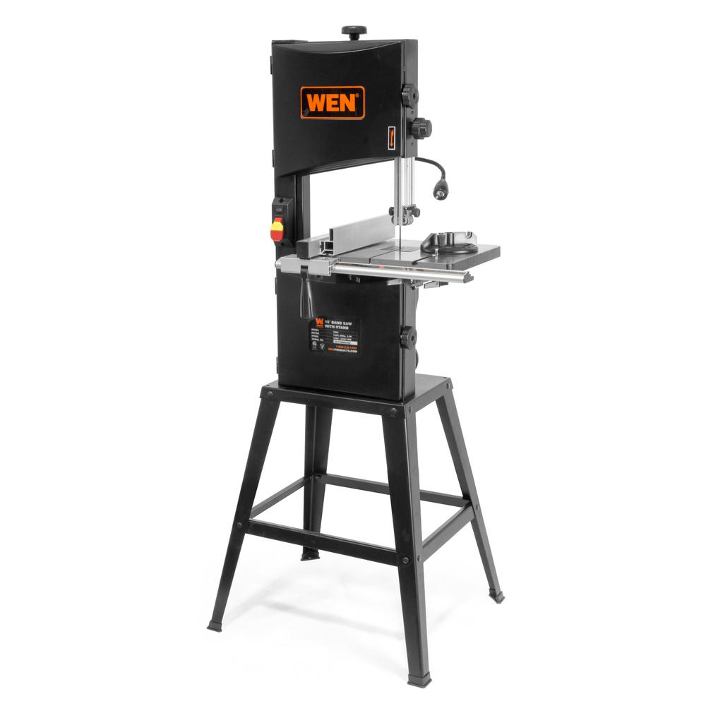 WEN 3.5 Amp 10 in. 2-Speed Band Saw with Stand and Worklight