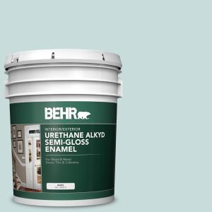 Behr 5 Gal S440 1 Sunken Pool Urethane Alkyd Satin Enamel Interior Exterior Paint 790005 The Home Depot