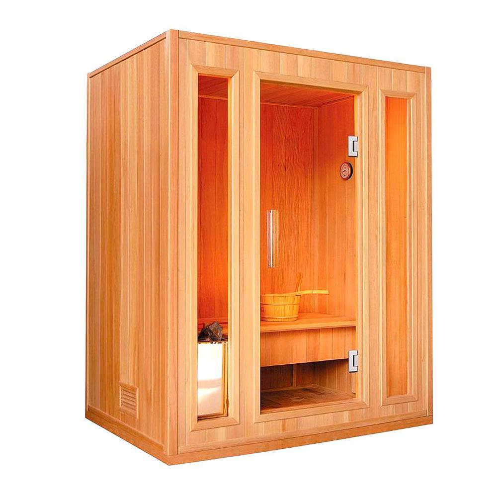 3-Person Canadian Hemlock Electric Heater Sauna