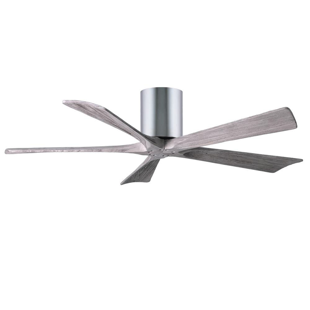 Indoor Outdoor Polished Chrome Ceiling Fan With Remote Control And