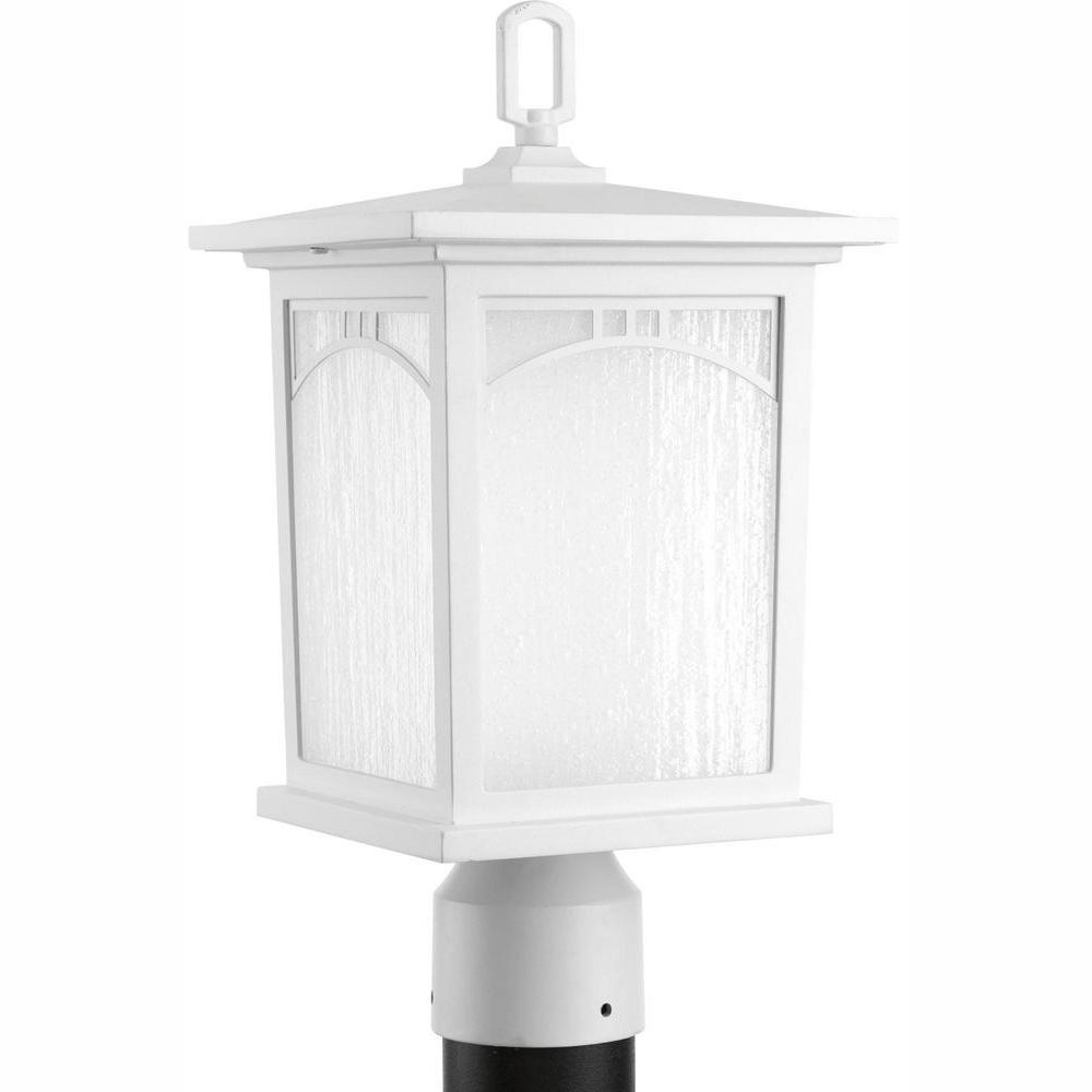 Progress Lighting Residence Collection 1-Light Textured White LED Outdoor Post Lantern was $99.97 now $39.34 (61.0% off)