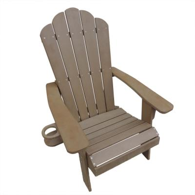 Adirondack Chair Outdoor Deck Patio Furniture Polyresin Fade and Water-Resistant in Teak
