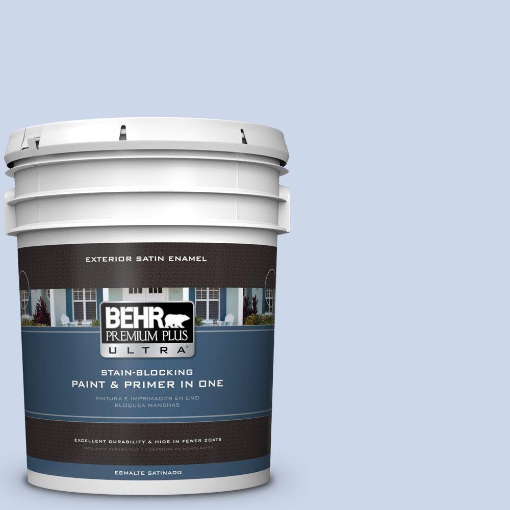 BEHR Premium Plus Ultra 5-gal. #610C-2 Calm Water Satin Enamel Exterior Paint