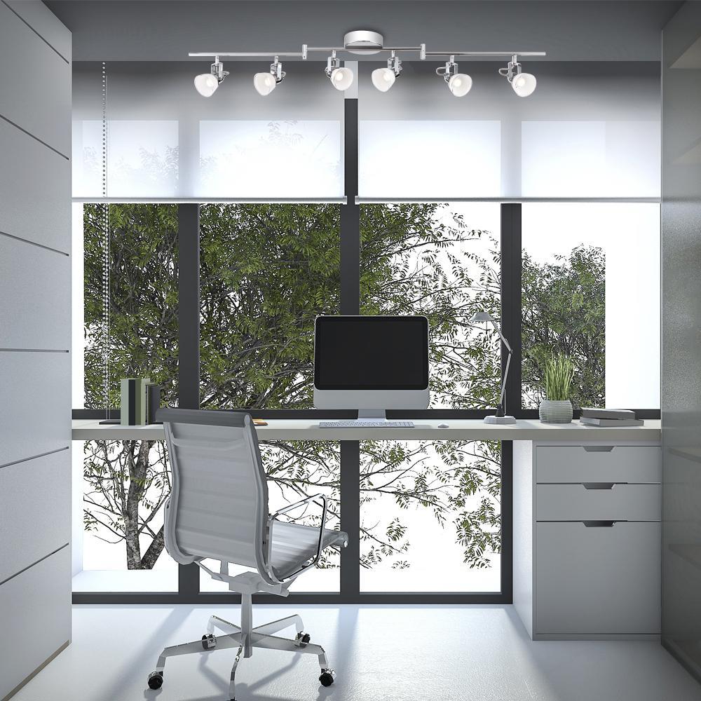 new style 1ba54 d3383 Easylite 4 ft. 6-Light Chrome Integrated LED Track Lighting Kit
