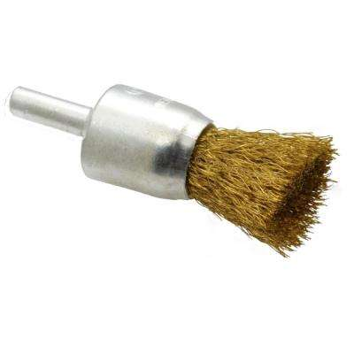 3/4 in. x 1/4 in. Shank Brass Wire End Brush