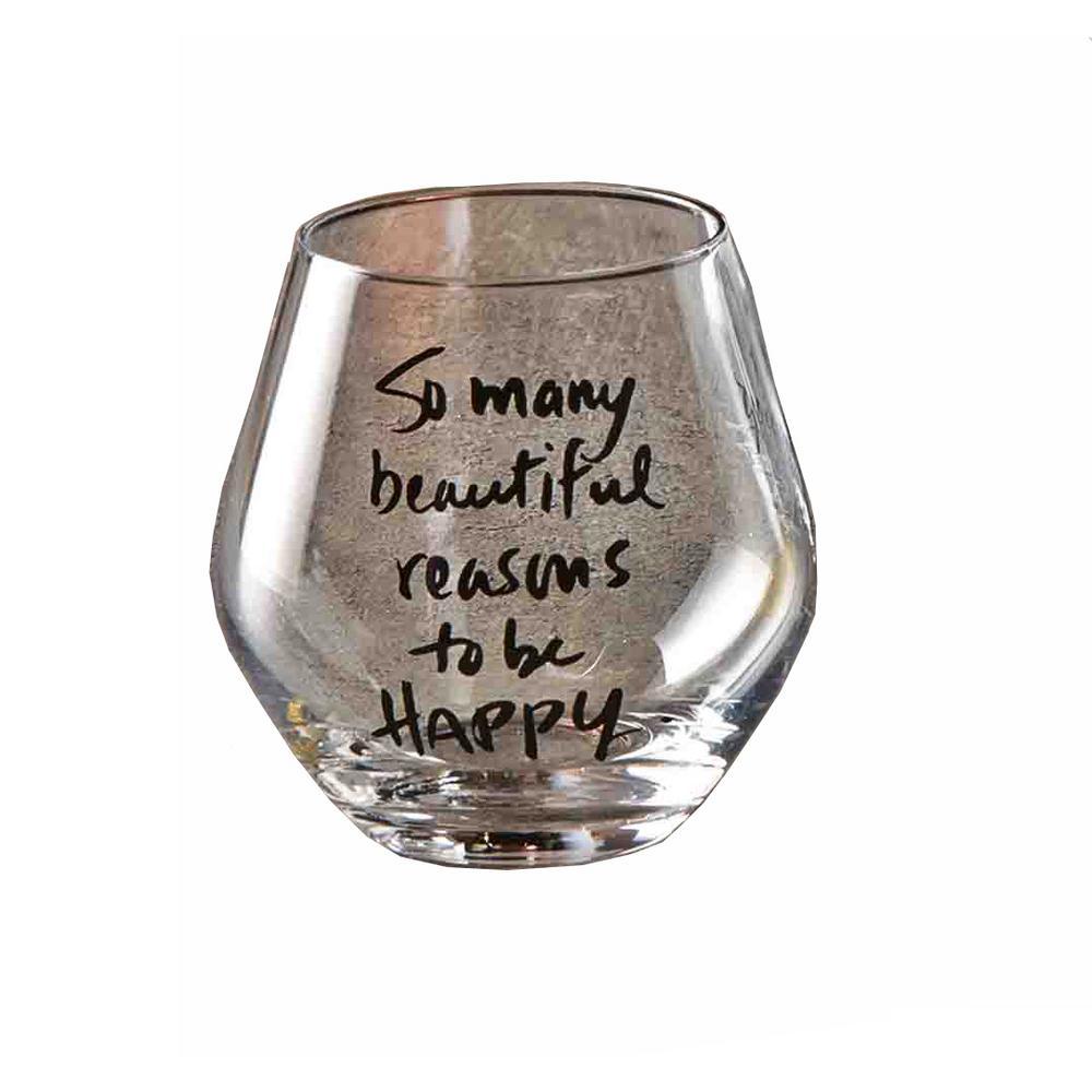 16 oz. Sentiment Stemless Wine Glass (Set of 4)