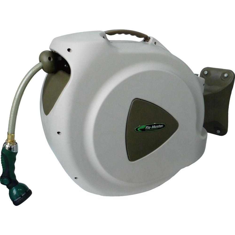 Rl Flo Master 65 Ft Retractable Hose Reel With 8 Pattern Nozzle 65hr8 The Home Depot