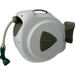 Click here to buy RL Flo-Master 65 ft. Retractable Hose Reel with 8-Pattern Nozzle by RL Flo-Master.