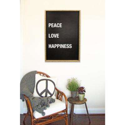"""25.5 In. W x 37.5 In. H """"Peace Love Happiness"""" by JLB Framed Printed Wall Art"""