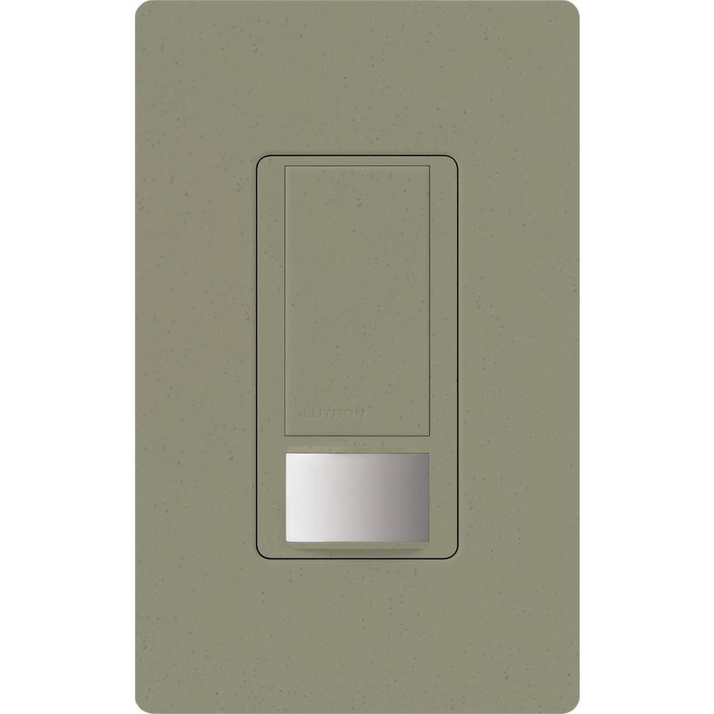 Lutron Maestro Vacancy Sensor switch, 5-Amp, Single-Pole or Multi-Location, Greenbriar