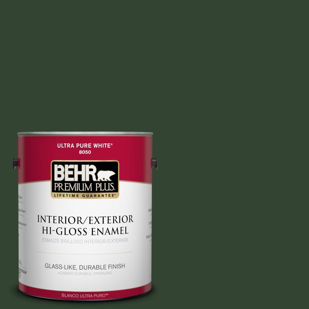 1-gal. #ECC-48-3 Lush Grass Hi-Gloss Enamel Interior/Exterior Paint