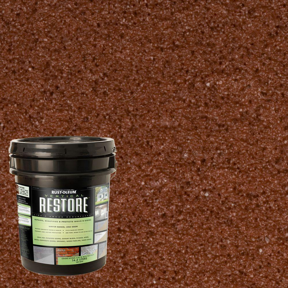 Rust-Oleum Restore 4-gal. Navajo Red Vertical Liquid Armor Resurfacer for Walls and Siding