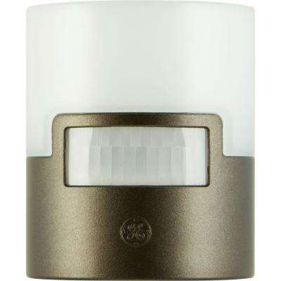 Motion Activated LED Night Light, Faux Bronze