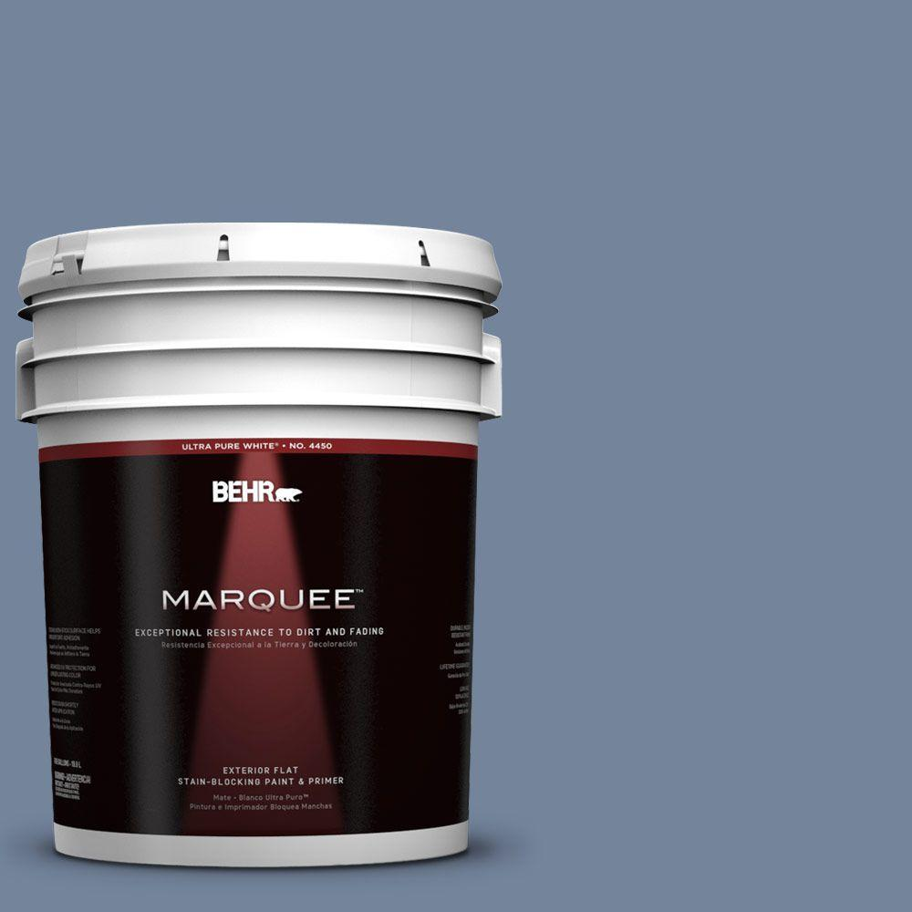 BEHR MARQUEE 5-gal. #580F-5 Mysteria Flat Exterior Paint
