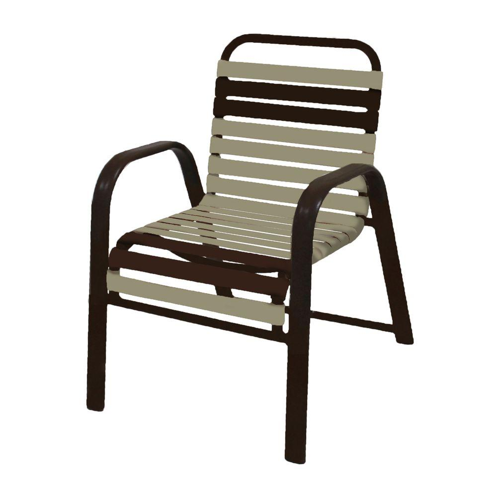 Marco Island Dark Cafe Brown Commercial Grade Patio Dining Chair with