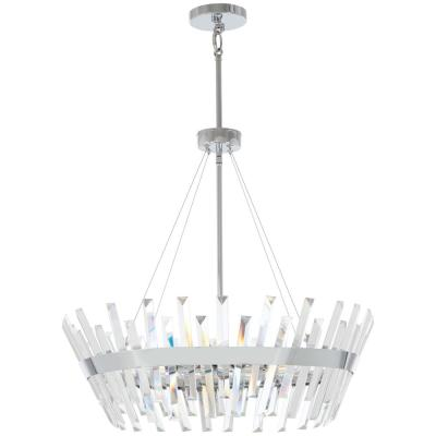 Echo Radiance 8-Light Chrome Pendant with Clear Glass