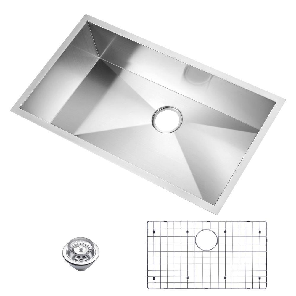 Water Creation Undermount Zero Radius Stainless Steel 33x.