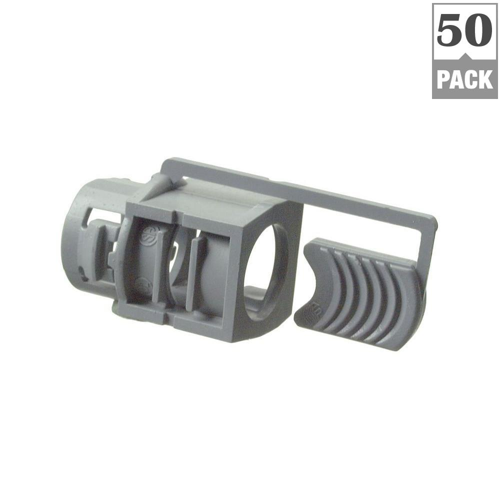 Halex 3/8 in. Non-Metallic (NM) Cable Connectors (50-Pack)-75101B ...