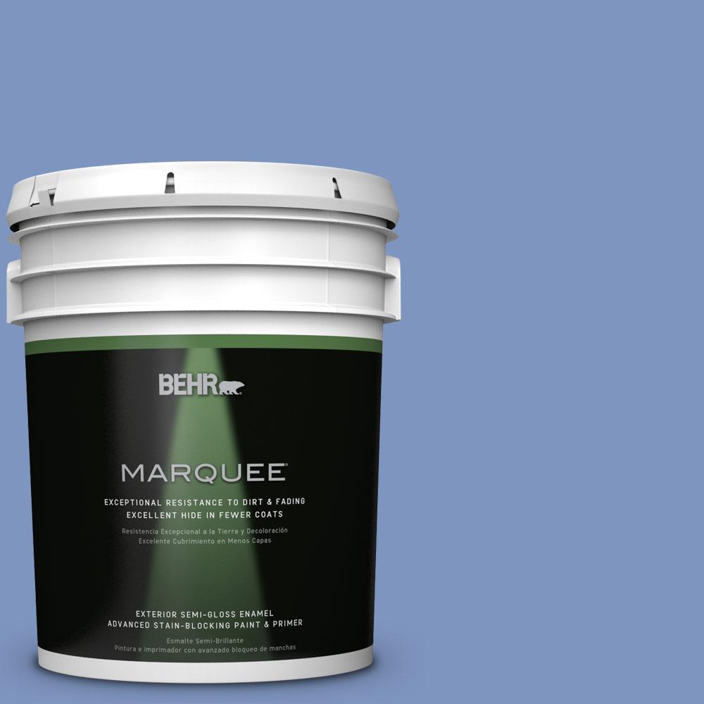 5-gal. #M540-5 Blue Satin Semi-Gloss Enamel Exterior Paint