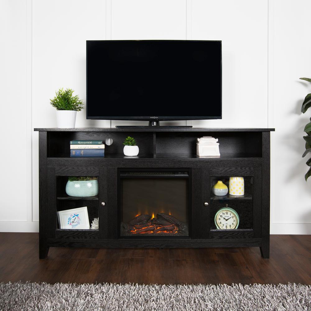 tv stand black walker edison furniture company black entertainment center 29293