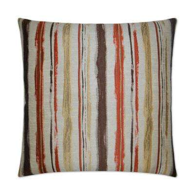 Brunswick Brick Feather Down 24 In. X 24 In. Standard Decorative Throw  Pillow