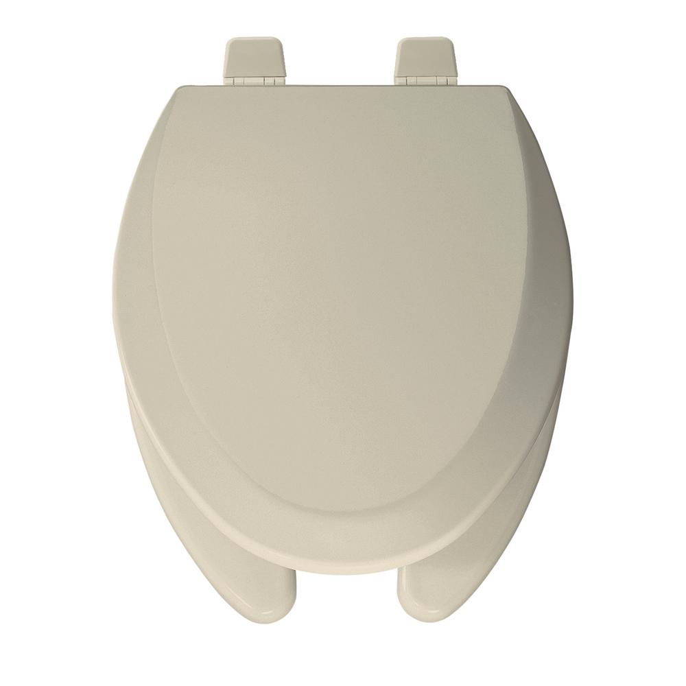 Elongated Open Front Toilet Seat in Bone