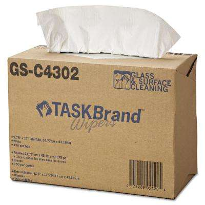 4-Ply White TASKBrand Glass and Surface Wipers (150-Box, 6-Box/Carton)
