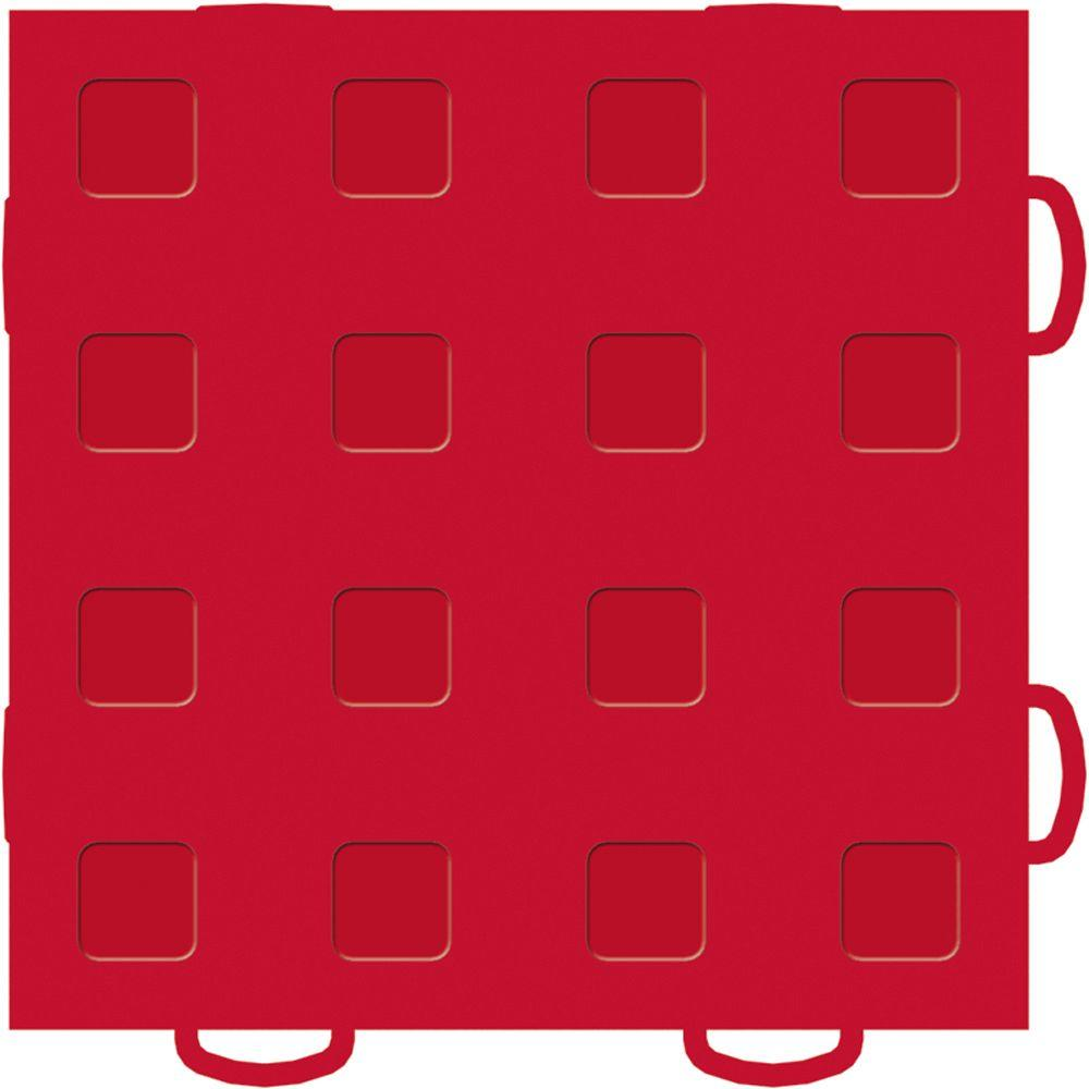 WeatherTech TechFloor 6 in. x 6 in. Red/Red Vinyl Flooring Tiles (Quantity of 10)