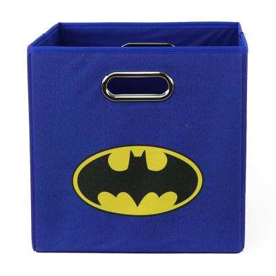 Batman Logo 10.5 in. x 10.5 in. Blue Folding Storage Bin