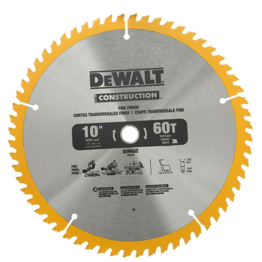 Dewalt 10 in circular saw blade assortment 2 pack dw3106p5 the dewalt 10 in circular saw blade assortment 2 pack greentooth Gallery