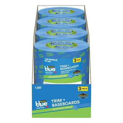 ScotchBlue 1.88 in. x 60 yds. Trim and Baseboards Painter's Tape with Edge-Lock (Case of 12)