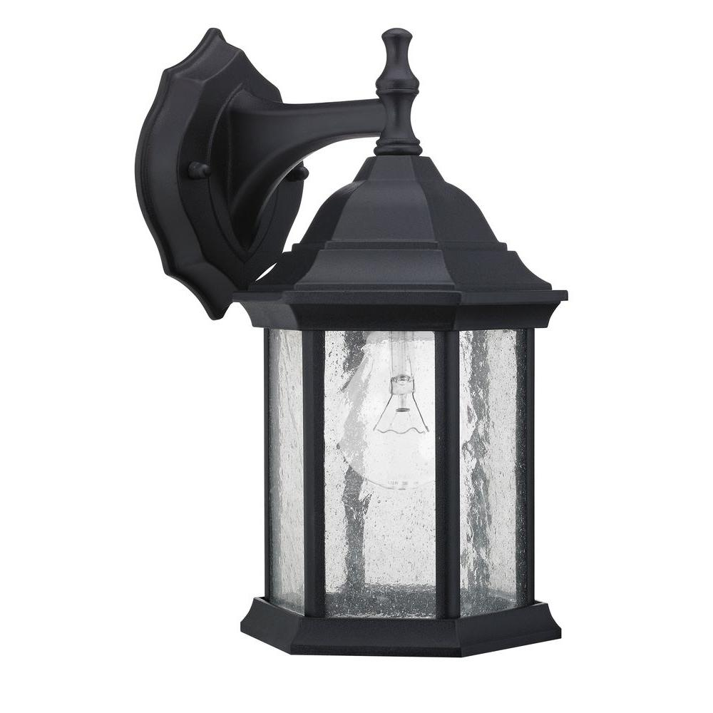 Chloe Lighting Transitional Wall-Mount 1-Light Outdoor Black Sconce-DISCONTINUED