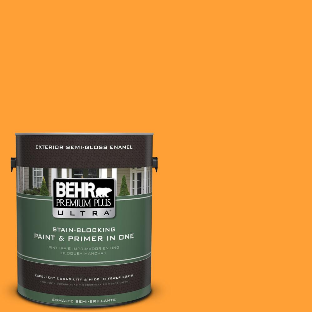 BEHR Premium Plus Ultra 1-gal. #P250-7 Blazing Bonfire Semi-Gloss Enamel Exterior Paint