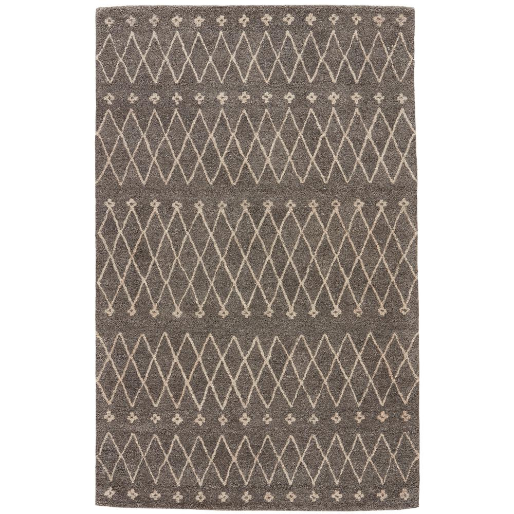 Charcoal Gray 5 ft. x 8 ft. Tribal Area Rug