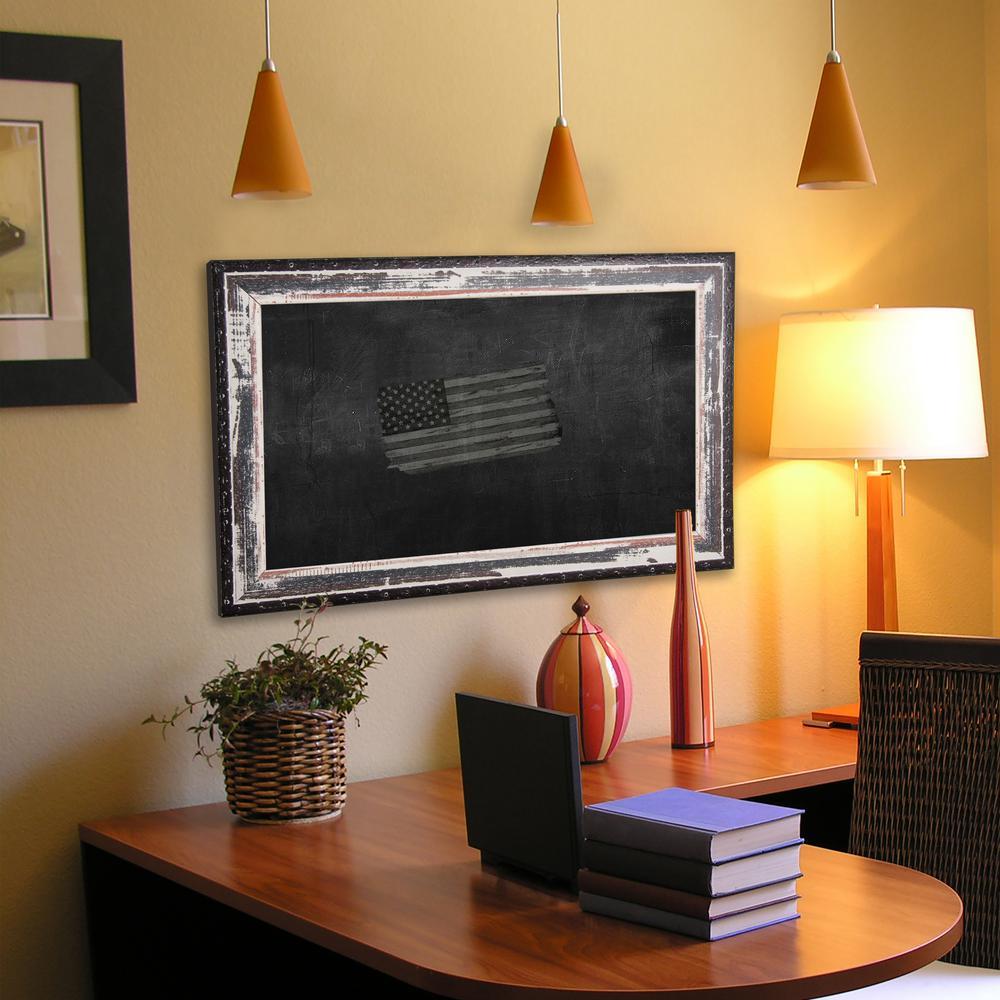42 in. x 30 in. Rustic Seaside Blackboard/Chalkboard