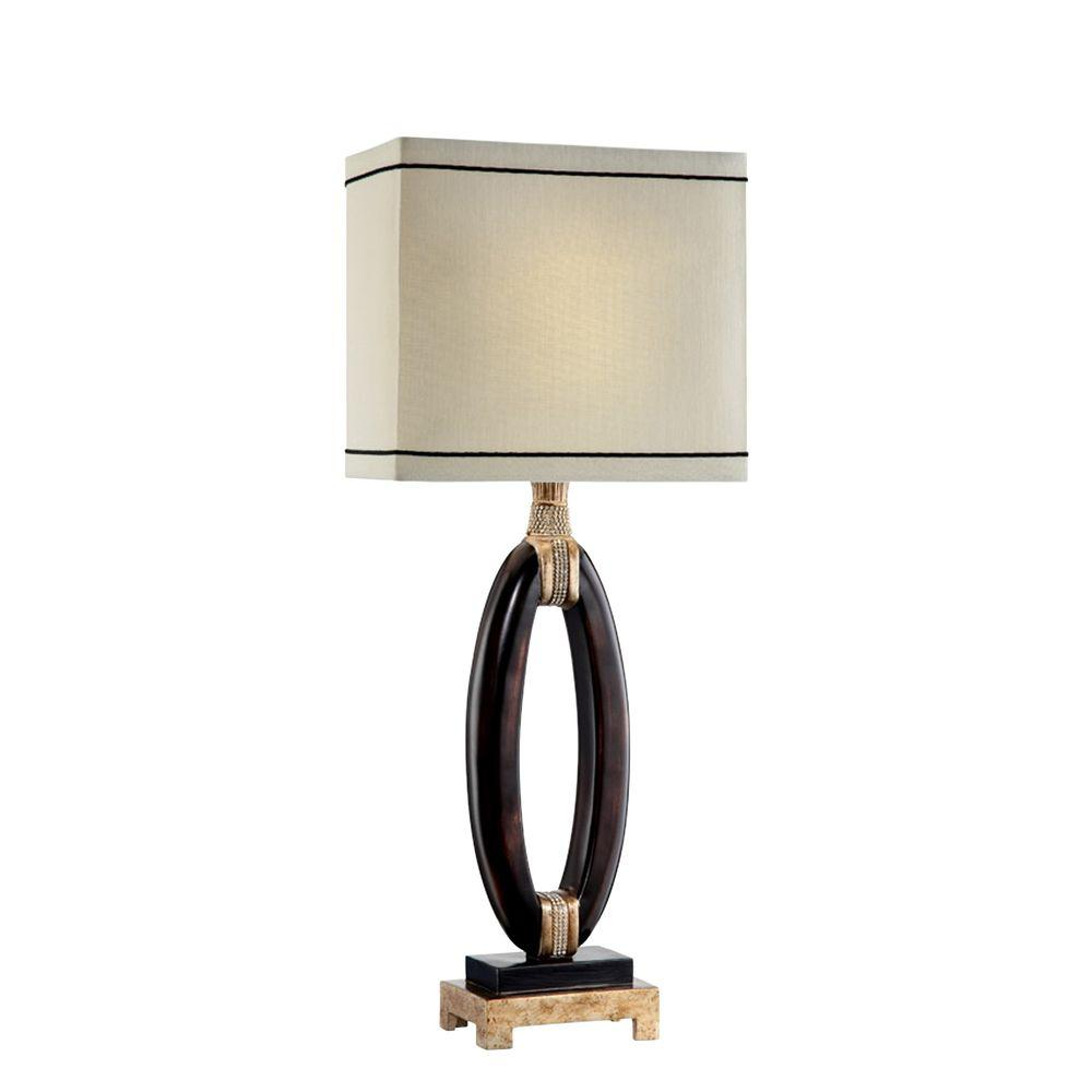 ORE International 27 in. Espresso Pharaoh Table Lamp-K-5506T - The ...