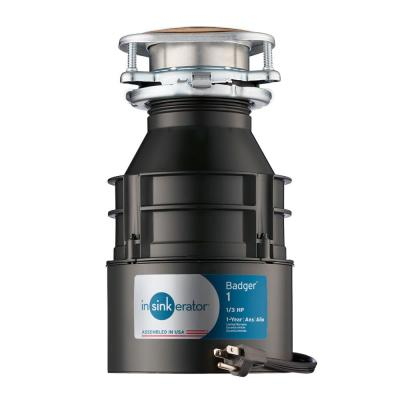 1/3 HP Continuous Feed Garbage Disposal with Power Cord