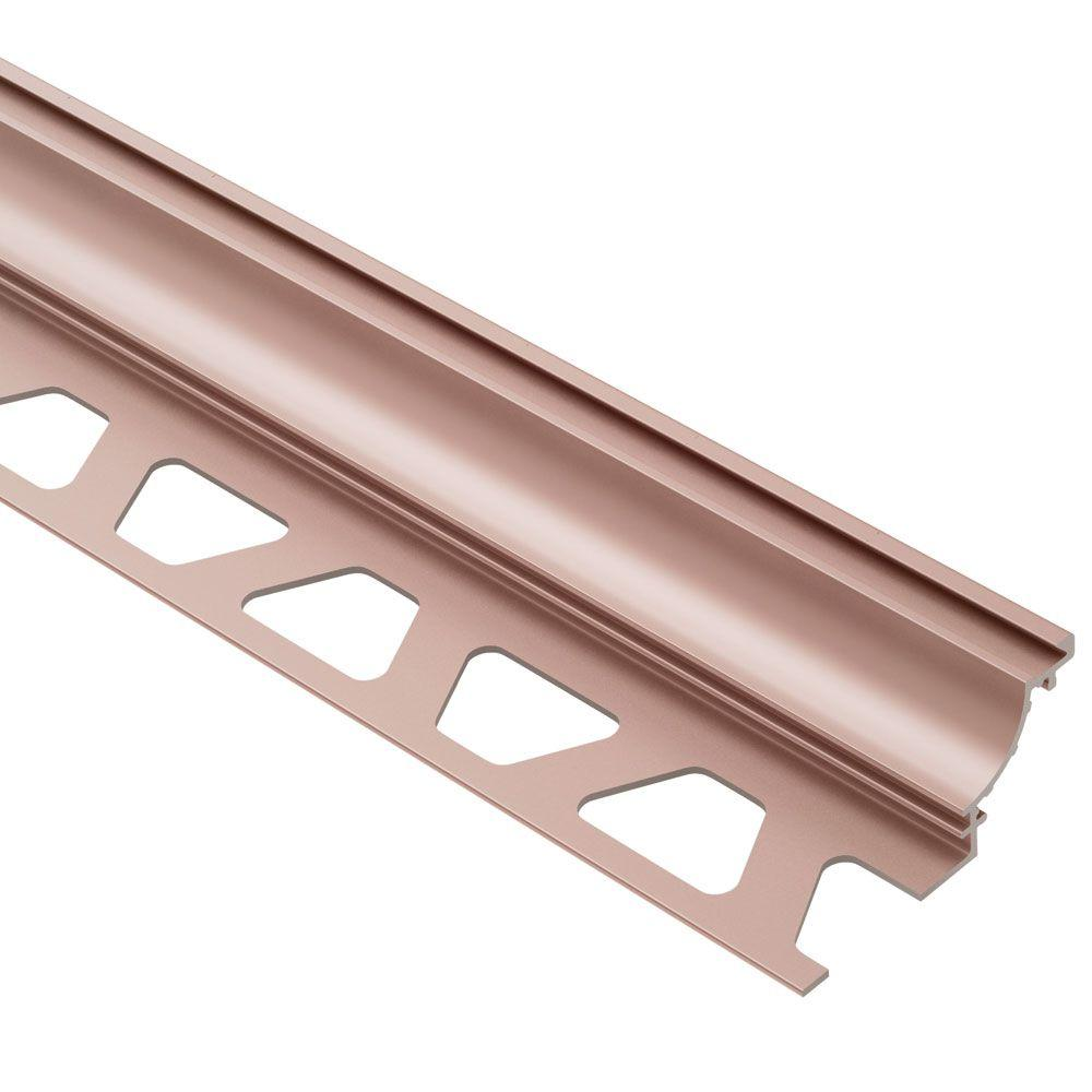 Dilex-AHK Satin Copper Anodized Aluminum 3/8 in. x 8 ft. 2-1/2