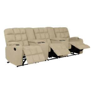 Peachy Prolounger 3 Seat Khaki Microfiber Wall Hugger Recliner Sofa Gmtry Best Dining Table And Chair Ideas Images Gmtryco
