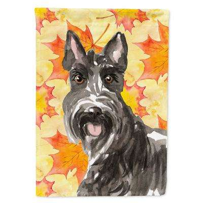 11 in. x 15-1/2 in. Polyester Fall Leaves Scottish Terrier 2-Sided 2-Ply Garden Flag
