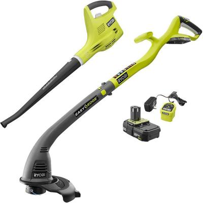 ONE+ 18-Volt Cordless String Trimmer/Edger and Blower/Sweeper Combo Kit (2-Tool) - 2.0 Ah Battery and Charger Included