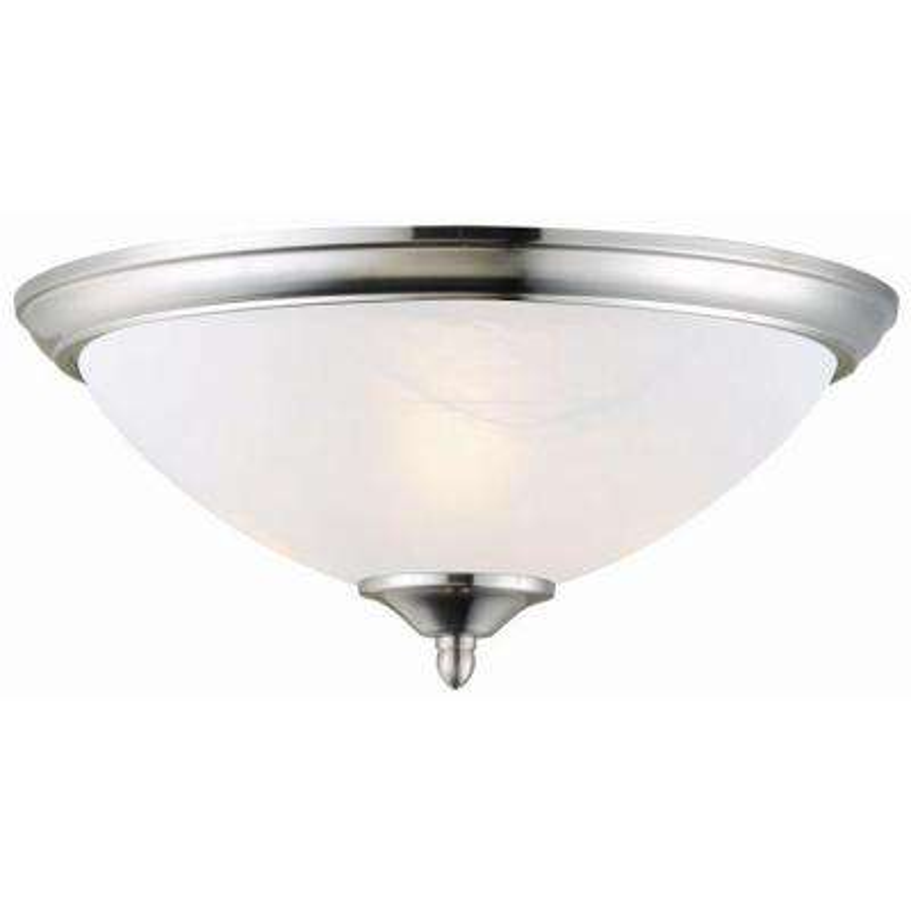 Trevie 2-Light Satin Nickel Ceiling Mount Light