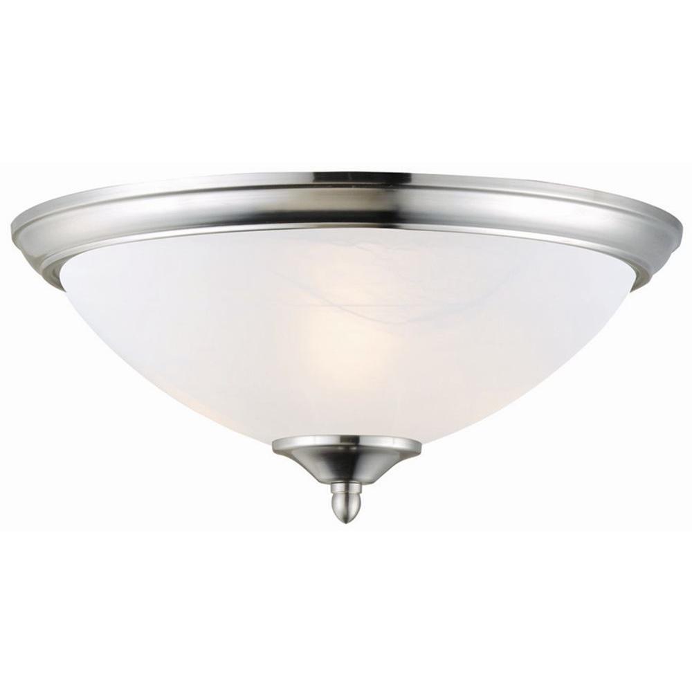 Design House Trevie 2-Light Satin Nickel Ceiling Mount Light