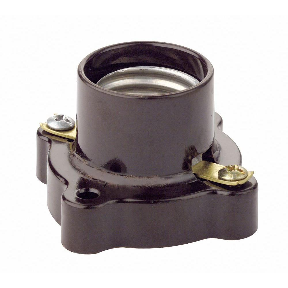 Leviton Pony Cleat Style Lamp Holder Brown 9063 The