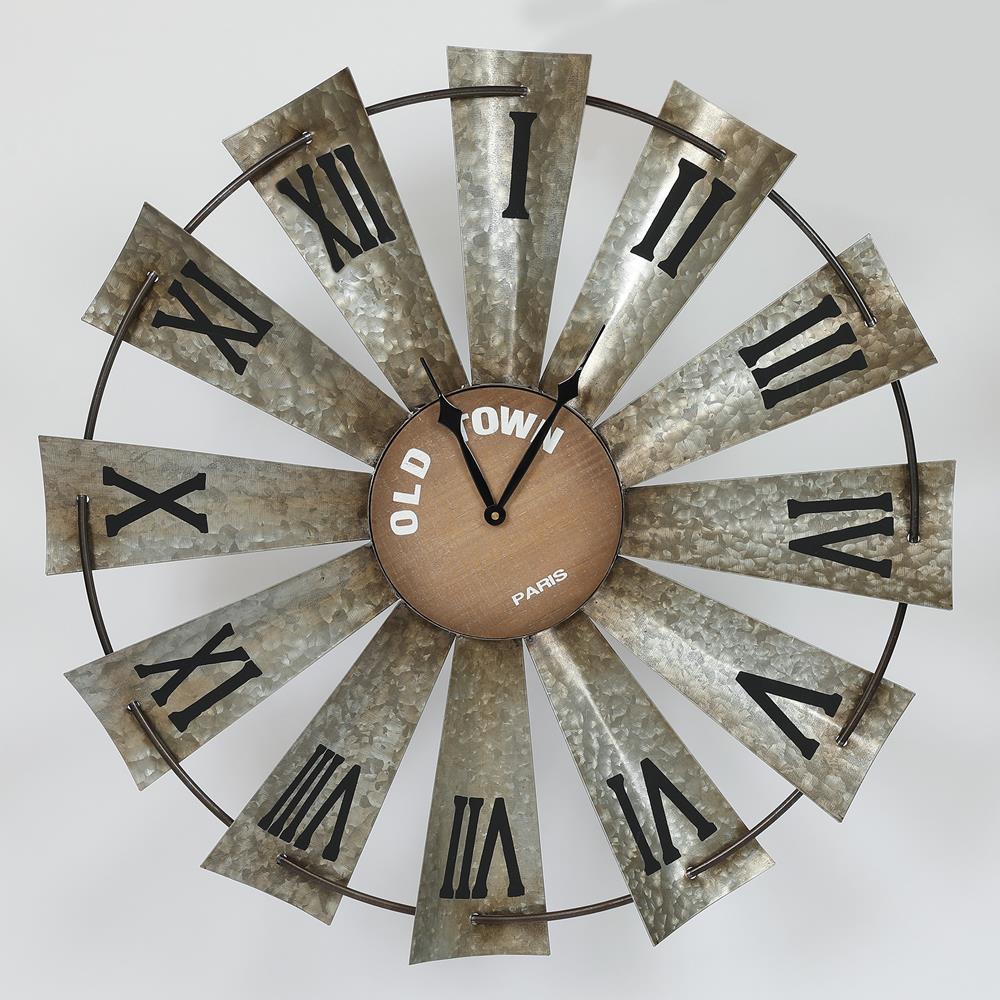 Wind Mill Clock Metal Work