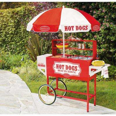 Vintage Collection Carnival Hot Dog Cart with Umbrella